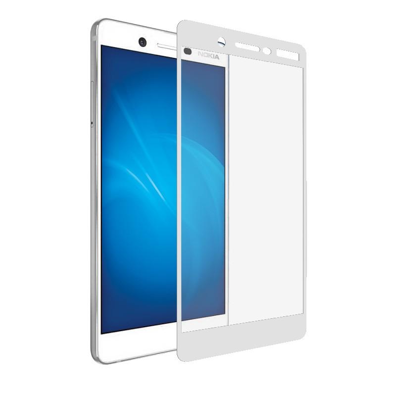 Защитное стекло Krutoff для Nokia 7 Full Screen White 02595