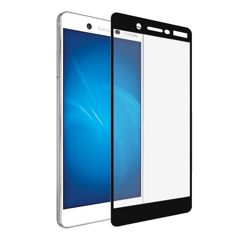 Защитное стекло Krutoff для Nokia 7 Full Screen Black 02592