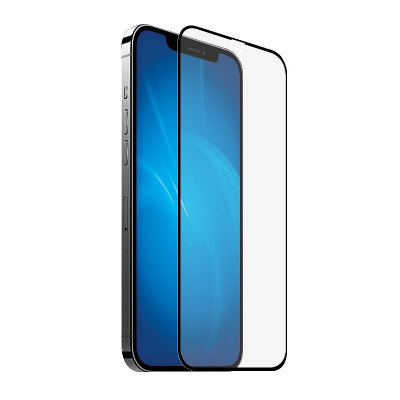 Закаленное стекло DF для APPLE iPhone 12 / 12 Pro Full Screen+Full Glue 3D Black Frame iColor-28
