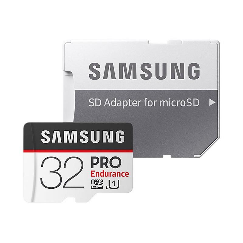 Карта памяти 32Gb - Samsung - Micro Secure Digital HC Pro Endurance UHS-I Class 10 SAM-MB-MJ32GARU с переходником под SD