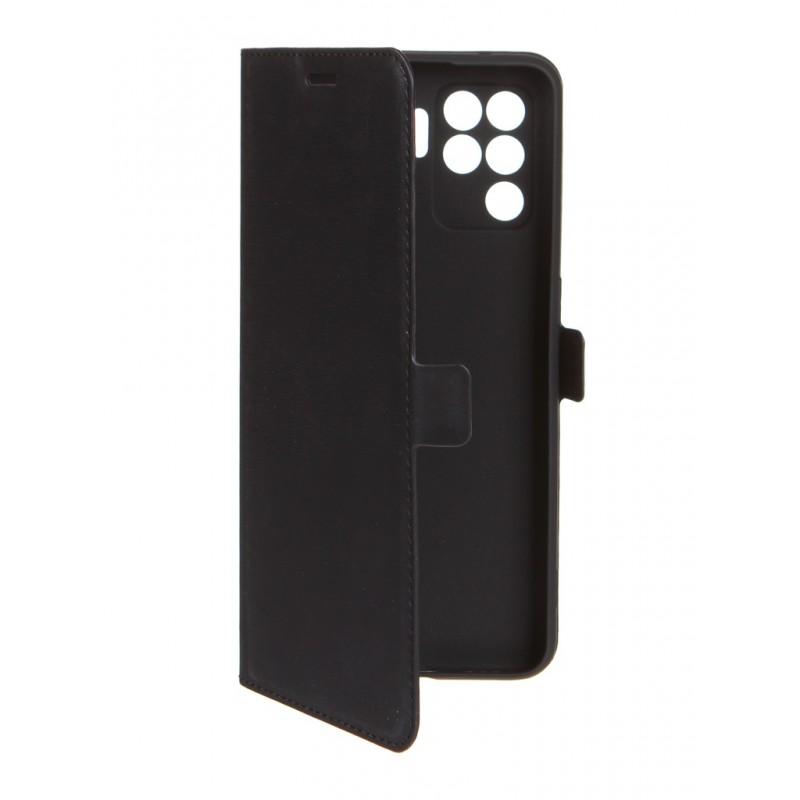 Чехол DF для Oppo Reno 5 Lite Black oFlip-16
