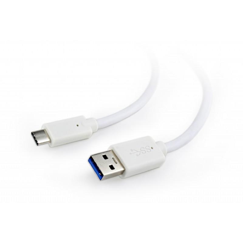 Аксессуар Gembird Cablexpert USB 3.0 AM - Type-C 1.8m White CCP-USB3-AMCM-6-W