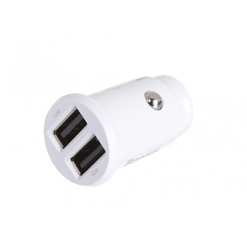 Зарядное устройство Baseus Grain Car Charger White CCALL-ML02