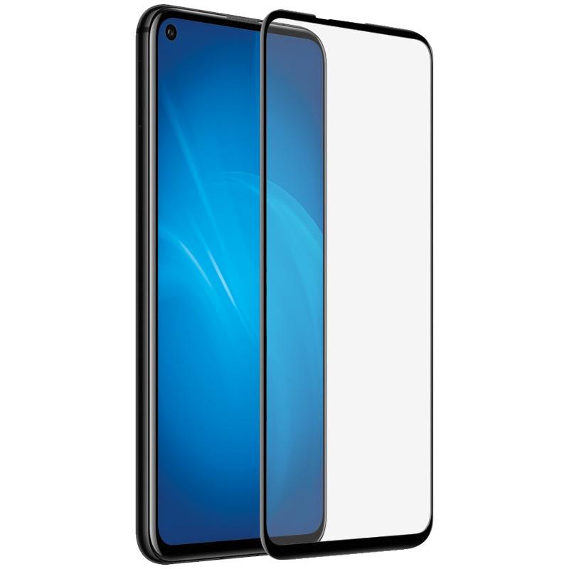 Закаленное стекло DF для Realme 7 Fullscreen+Fullglue Black rmColor-12