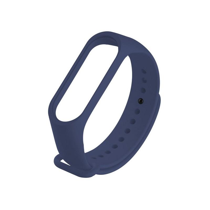 Aксессуар Ремешок Krutoff для Xiaomi Mi Band 3/4 Silicone Dark Blue 03686