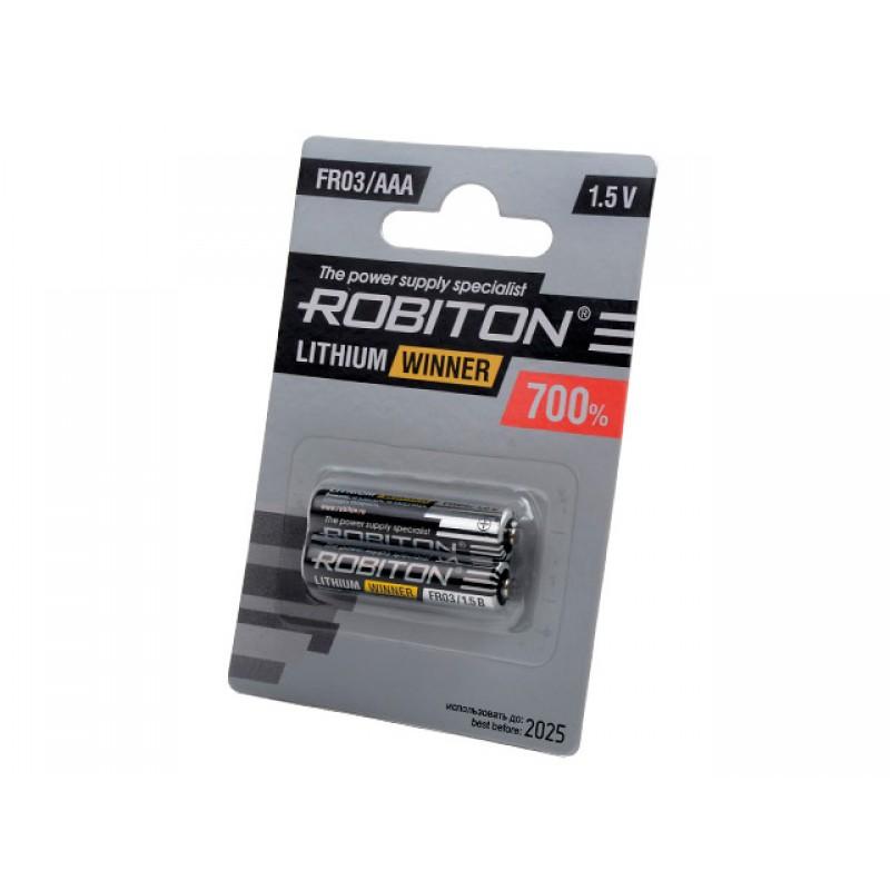 Батарейка AAA - Robiton Winner R-FR03-BL2 FR03 (2 штуки) 13264