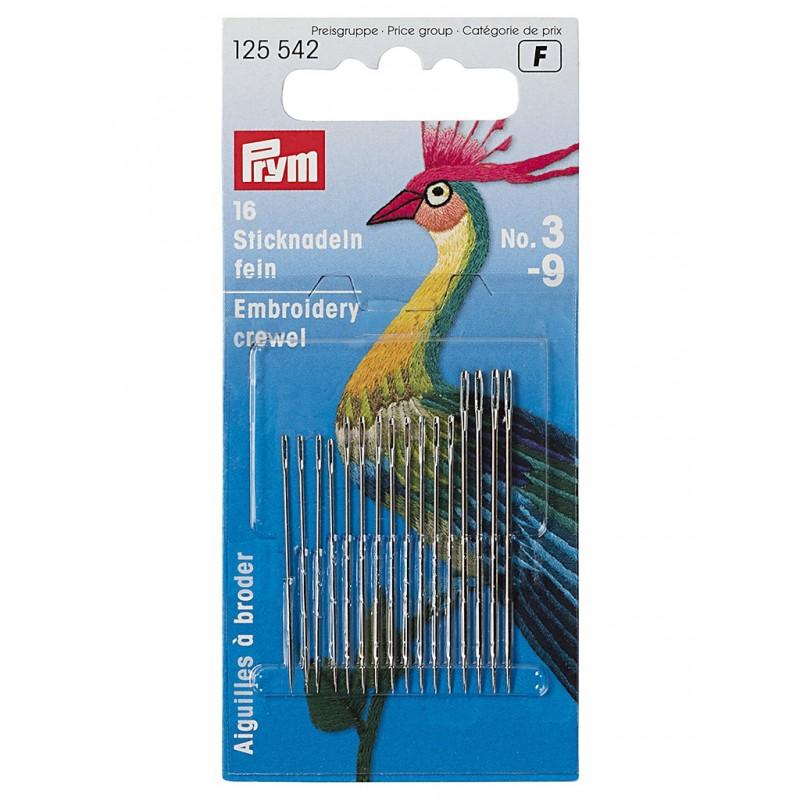Иглы для вышивки Prym №3-9 16шт 125542