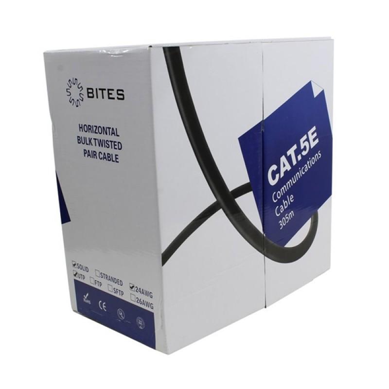 Сетевой кабель 5bites UTP / SOLID / 5E / 24AWG / CCA / PVC / BLUE / 305M US5505-305A-BL