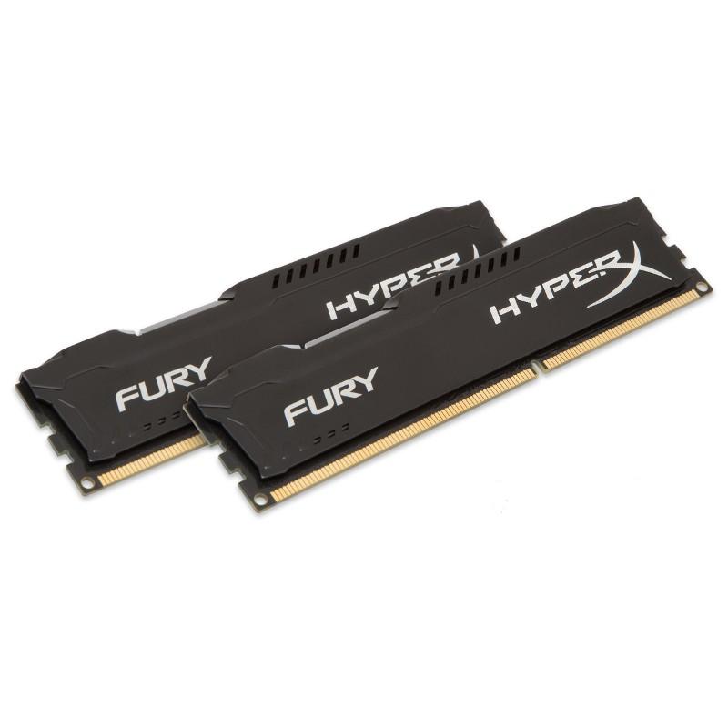 Модуль памяти HyperX Fury Black Series PC3-12800 DIMM DDR3 1600MHz CL10 - 8Gb KIT (2x4Gb) HX316C10FBK2/8