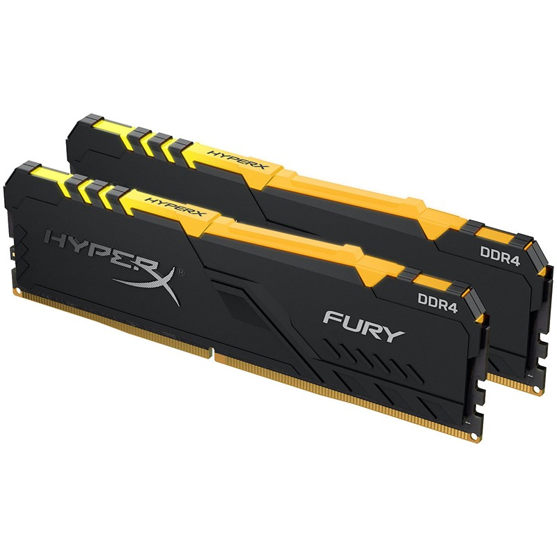 Модуль памяти Kingston HyperX Fury RGB DDR4 DIMM 3733Mhz PC-29800 CL19 - 16Gb Kit (2x8Gb) HX437C19FB3AK2/16