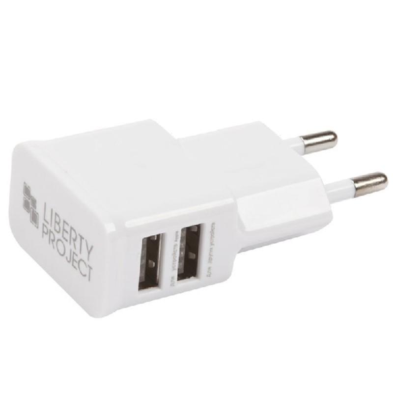 Зарядное устройство Liberty Project 2xUSB 2.1А 0L-00030219 White