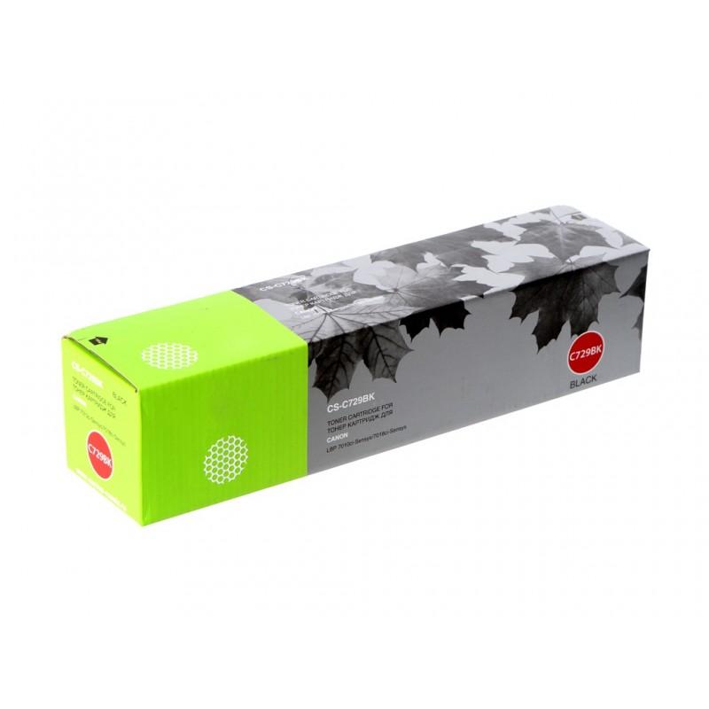 Картридж Cactus Black для i-SENSYS LBP-7010C/LBP-7018C 1200стр. CS-C729BK