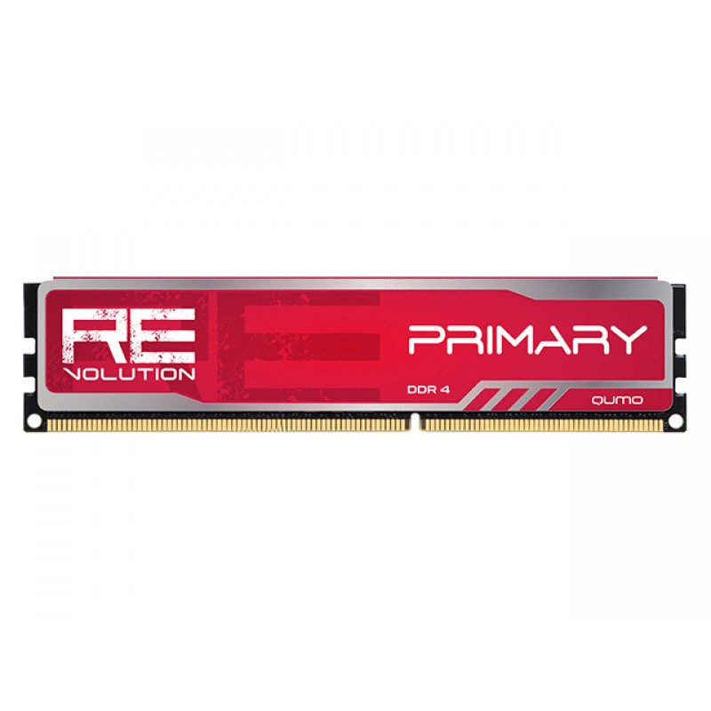 Модуль памяти Qumo reVolution Primary Red DDR4 DIMM 2666Mhz PC-21300 CL16 - 8Gb Q4Rev-8G2666P16PrimR