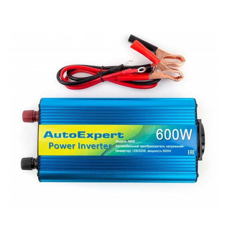 Автоинвертор AutoExpert A600 (600Вт) с 12В на 220В