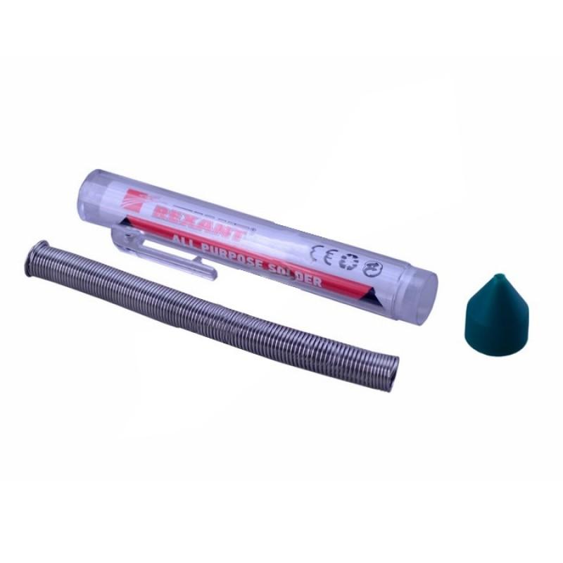 Припой с канифолью Rexant 20g 1mm 1шт 09-3103