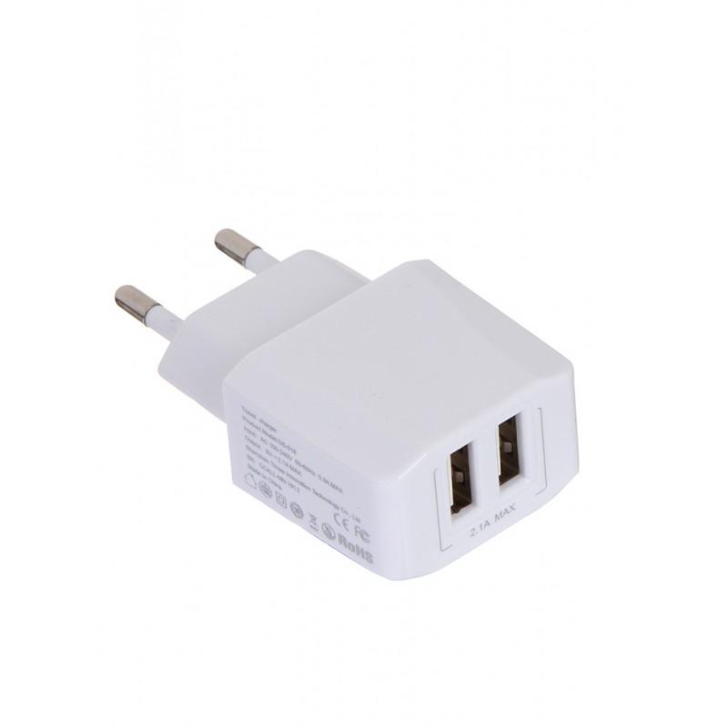 Зарядное устройство Baseus Mini Dual-U Charger EU 2xUSB 2.1A White CCALL-MN02