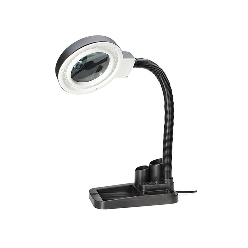 Лупа настольная Kromatech 2x/20x-85mm с подсветкой 40 LED 23149b199