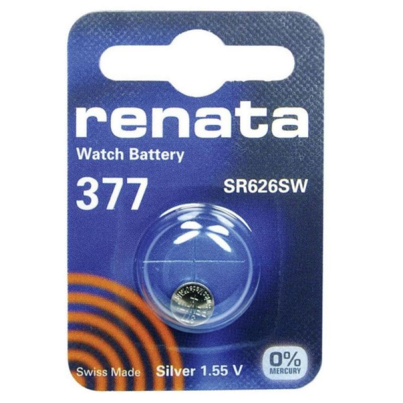 Батарейка R377 - Renata SR626SW (1 штука)