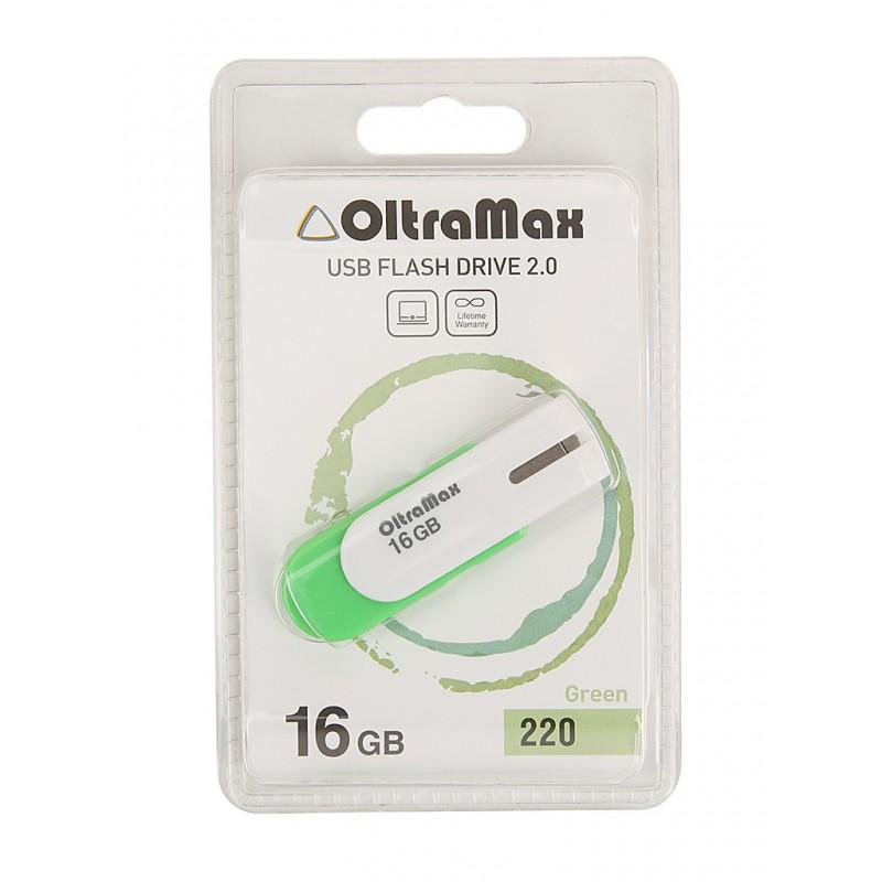 USB Flash Drive 16Gb - OltraMax 220 OM-16GB-220-Green