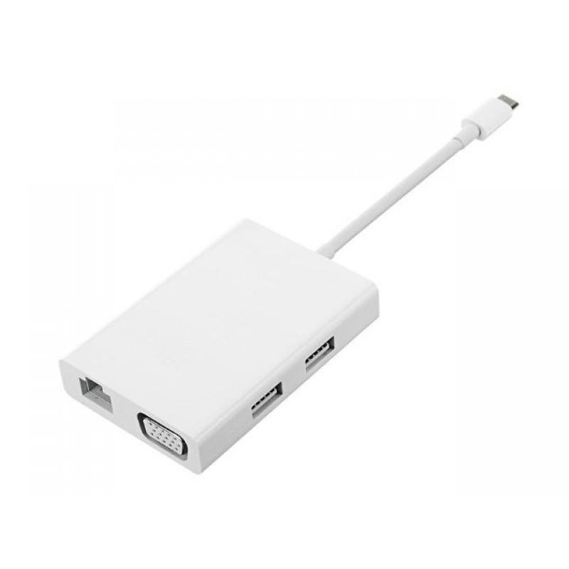 Хаб Xiaomi Mi USB-C - VGA Gigabit Ethernet Multi-Adapter