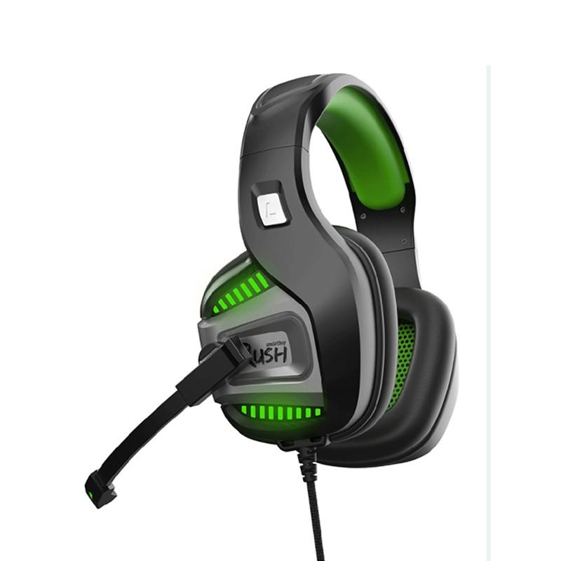 Наушники SmartBuy Rush Punchem Black-Green SBHG-9700