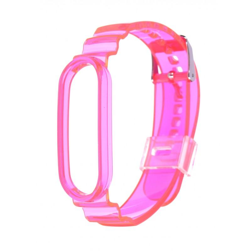Aксессуар Ремешок Zibelino для Mi Band 3/4/5/6 Plastic Pink ZBS-PP-XIMB5-PNK