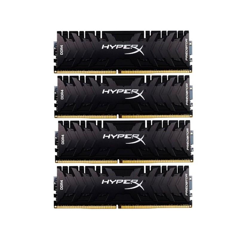 Модуль памяти HyperX Predator DDR4 DIMM 3200MHz PC4-25600 CL16 - 32Gb KIT (4x8Gb) HX432C16PB3K4/32