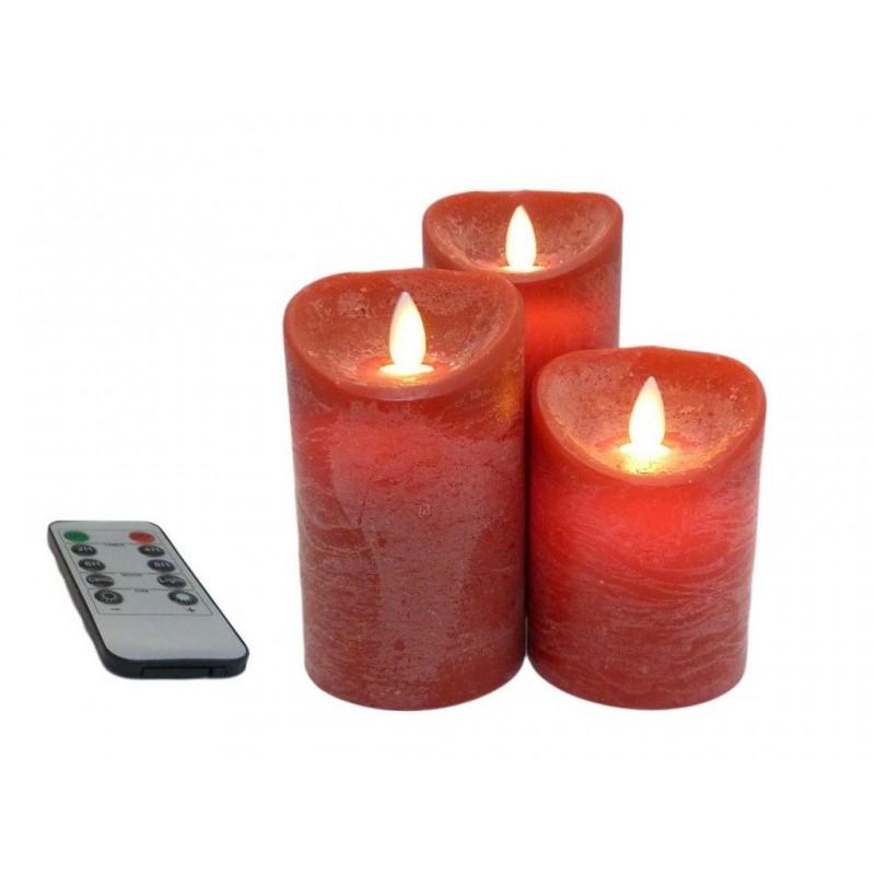 Светодиодная свеча Peha Magic Мерцающие 3шт Red MB-20124