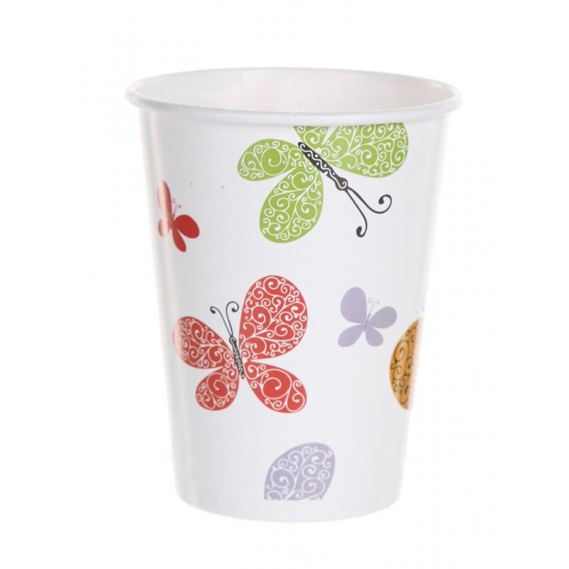 Одноразовые стаканчики Хамелеон Бабочки 200ml 6шт VPH310