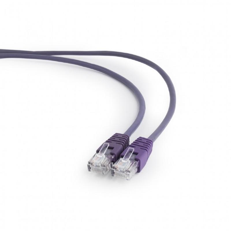 Сетевой кабель Gembird Cablexpert UTP cat.5e 1m Violet PP12-1M/V