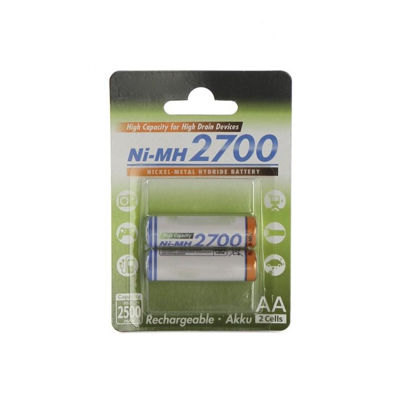 Аккумулятор AA - Panasonic 2700 mAh Ni-MH (2 штуки) 2BPBK-3HGAE/2BE