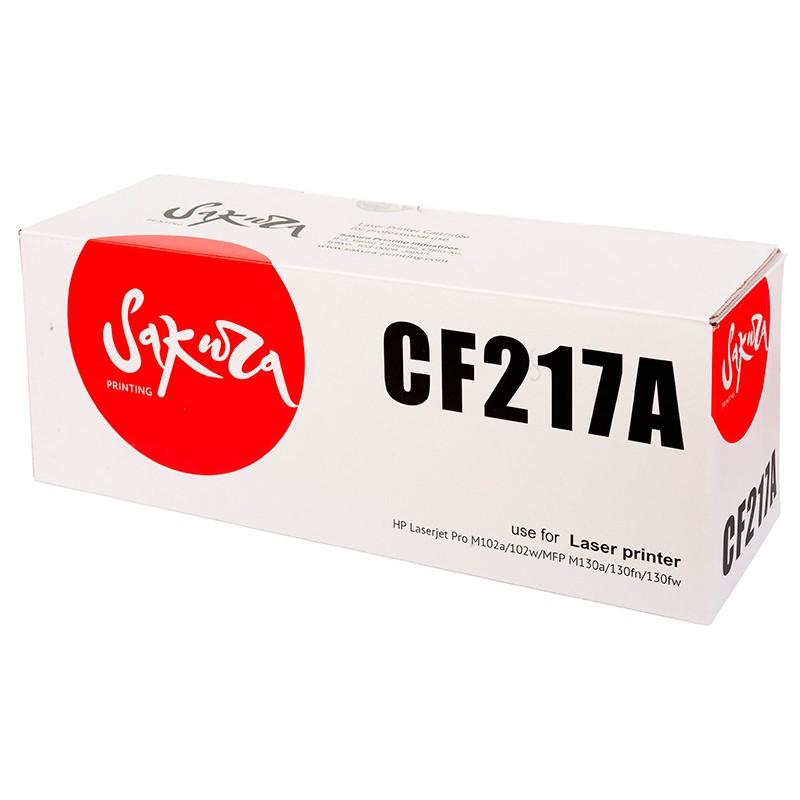 Картридж Sakura SACF217A / CF217A Black для HP LJ PM102/MFP M130