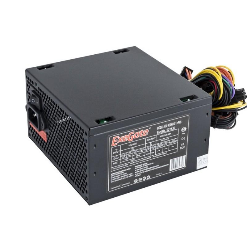 Блок питания ExeGate ATX-450NPXE 450W Black EX221637RUS / 221637