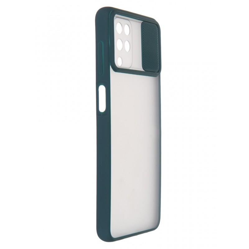 Чехол LuxCase для Samsung Galaxy A12 TPU+PC 2mm Dark Green 63177