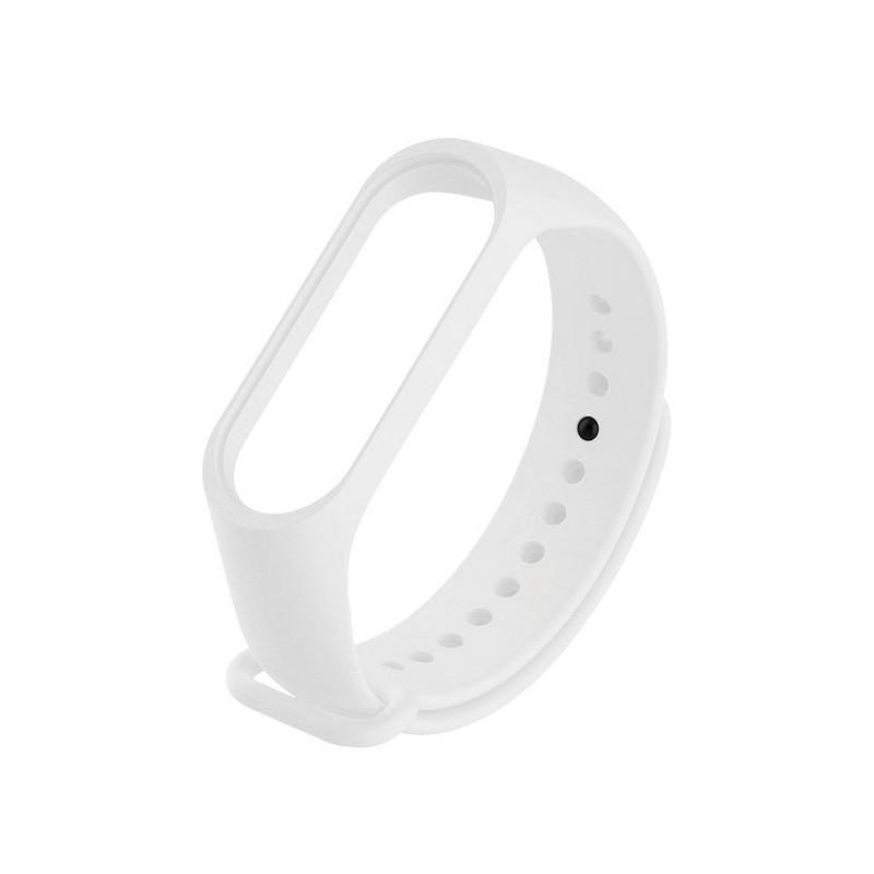 Aксессуар Ремешок Krutoff для Xiaomi Mi Band 3/4 Silicone White 03683