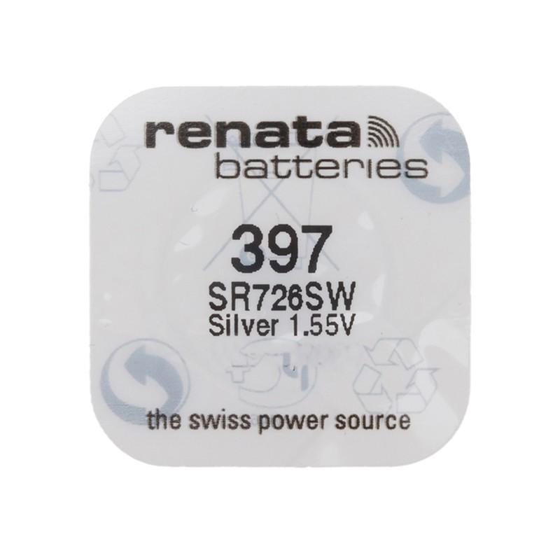 Батарейка R397 - Renata SR726SW (1 штука) RN 397 SR726SW/1BL