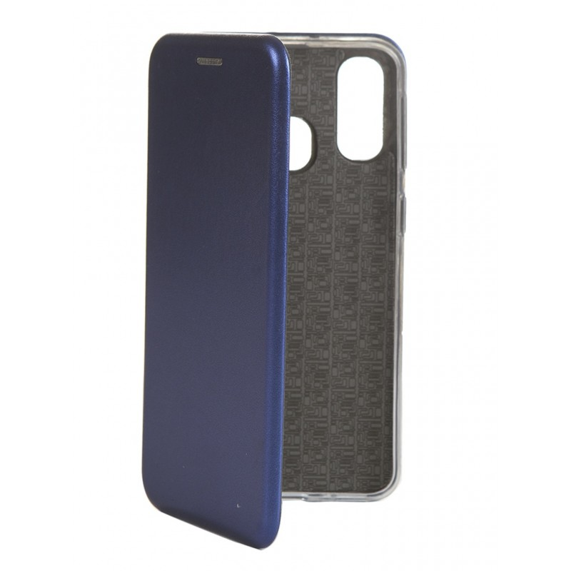Чехол Innovation для Samsung Galaxy A40 Book Silicone Magnetic Blue 15283