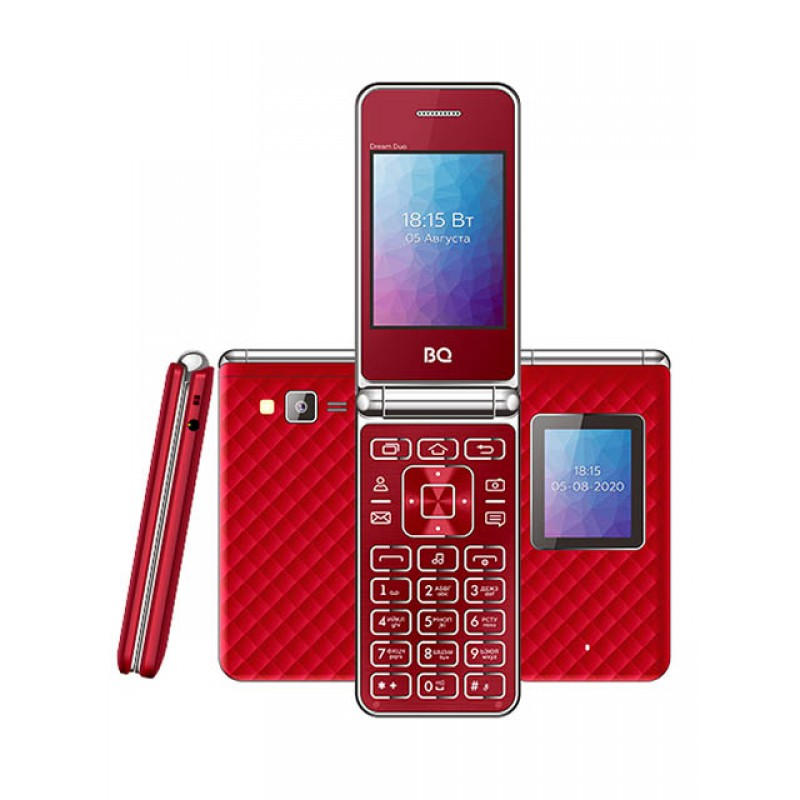Сотовый телефон BQ 2446 Dream Duo Red