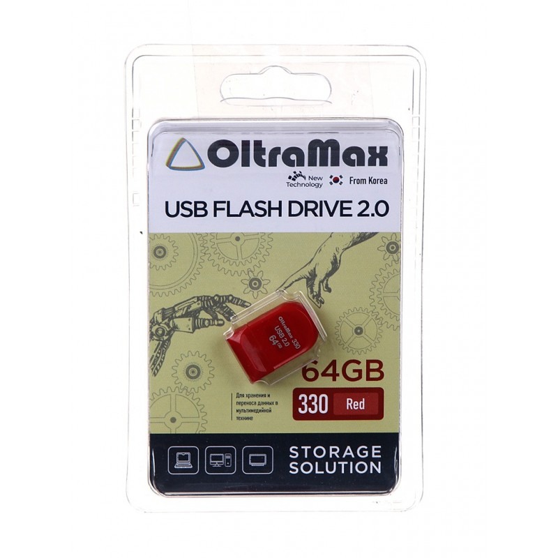 USB Flash Drive 64Gb - OltraMax 330 OM-64GB-330-Red