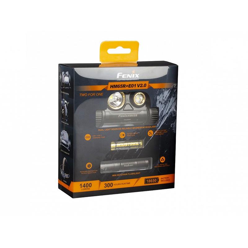 Фонарь Fenix HM65R LED Headlight + E01 V2.0 HM65RE01V20