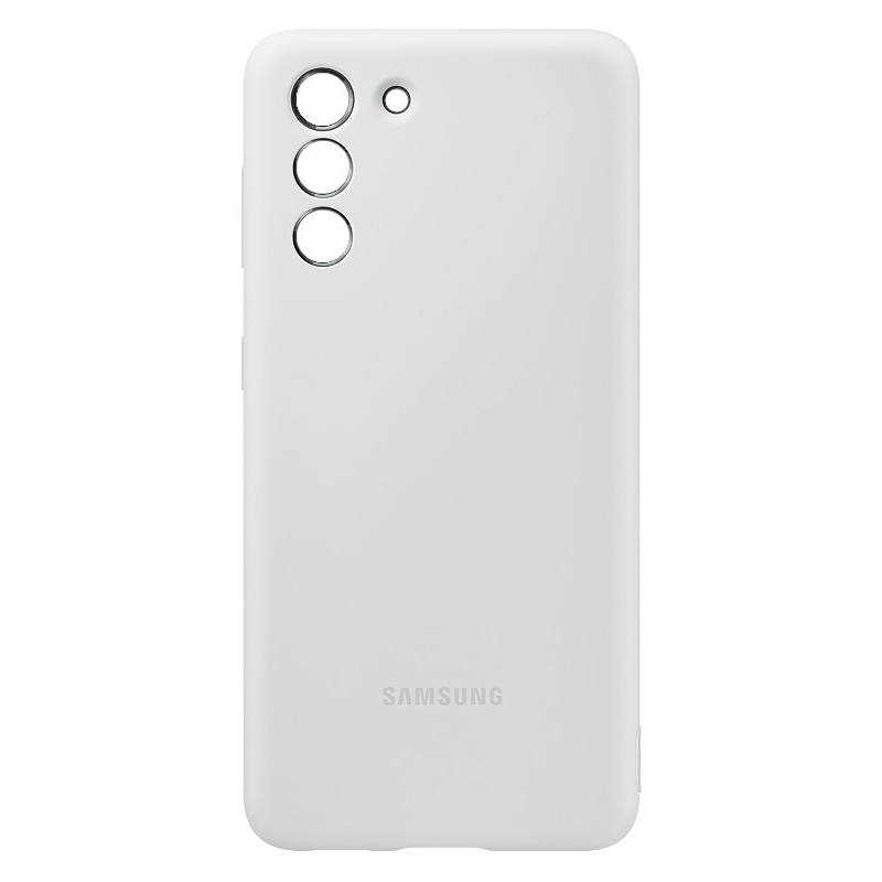 Чехол для Samsung Galaxy S21 Silicone Cover Light Gray EF-PG991TJEGRU