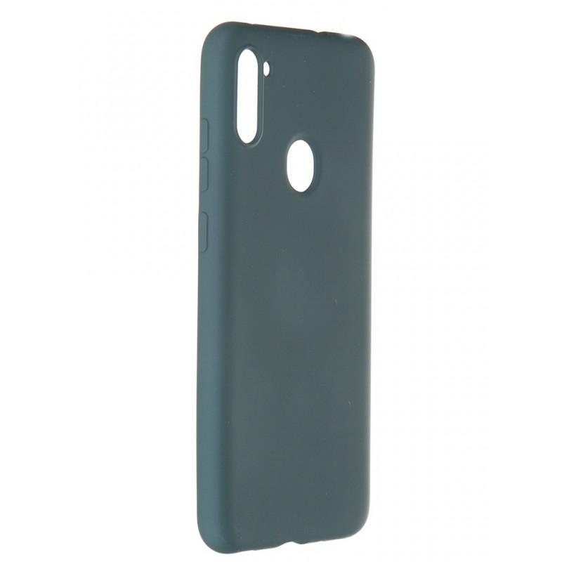 Чехол Pero для Samsung Galaxy A11 / M11 Liquid Silicone Dark Green PCLS-0005-NG