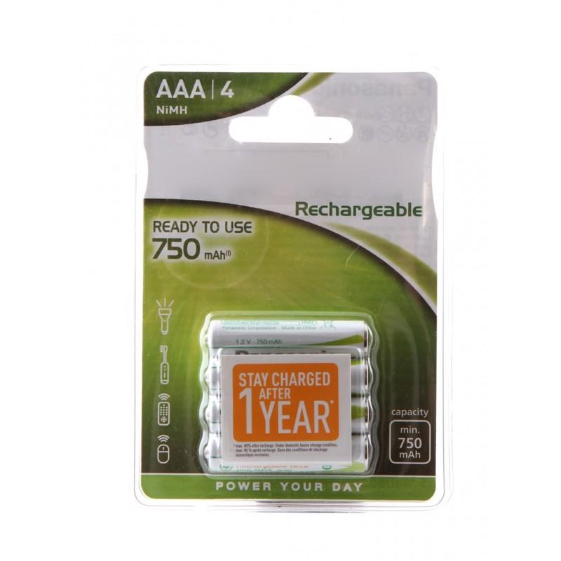 Аккумулятор AAA - Panasonic Ready to Use 750 mAh Ni-Mh (4 штуки) HHR-4MVE/4BC