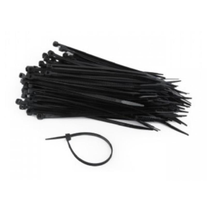 Стяжки пластиковые Gembird Cablexpert NYT-300x4.8B 100шт Black