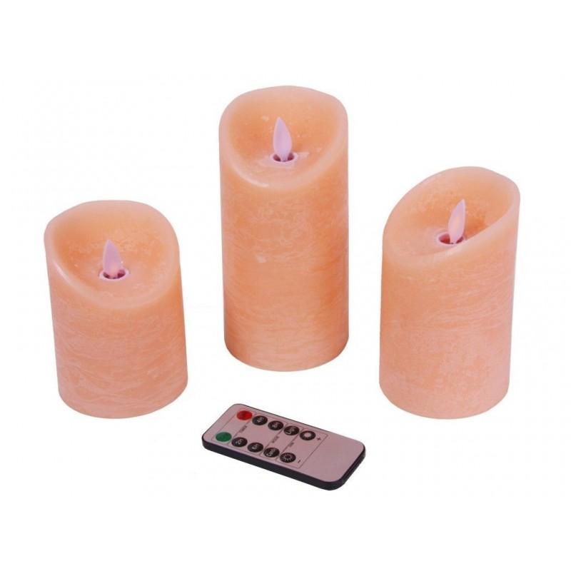 Светодиодная свеча Peha Magic Мерцающие 3шт Pink MB-20294