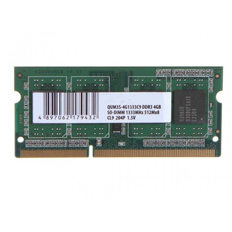 Модуль памяти Qumo 4GB DDR3 1333MHz DIMM 240pin CL9 QUM3U-4G1333K9R