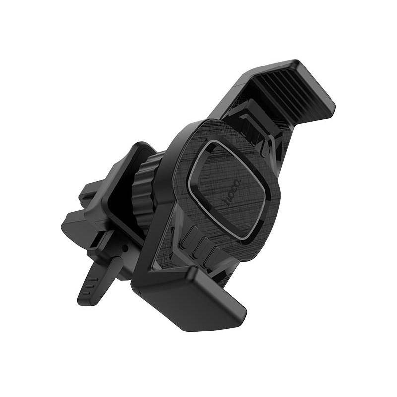 Держатель Hoco CA38 Platinum Sharp Air Outlet Black