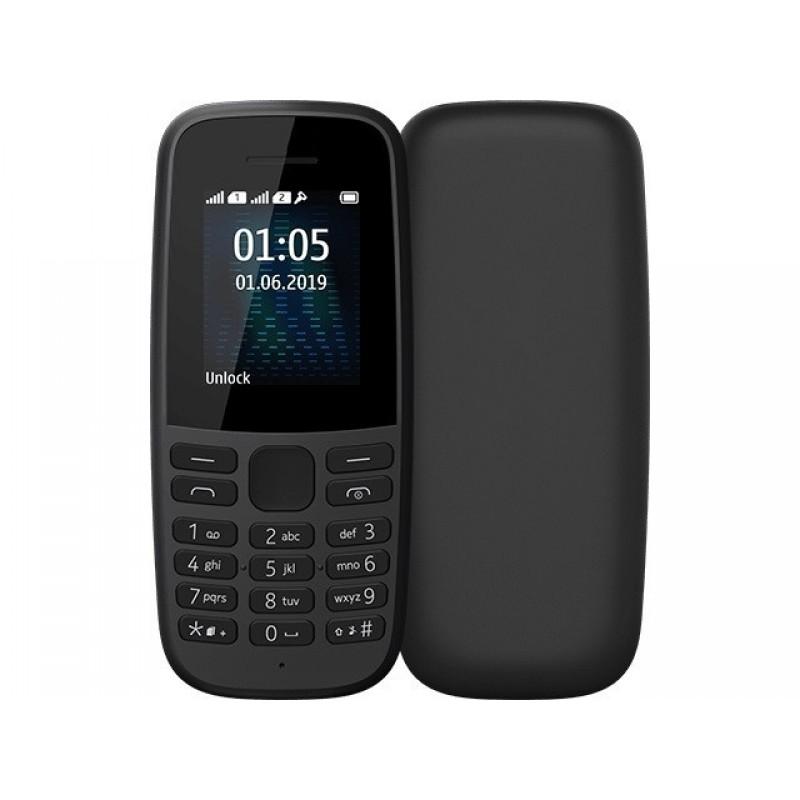 Сотовый телефон Nokia 105 (TA-1203) w/o charger Black 16KIGB01A19
