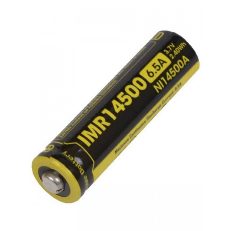Аккумулятор 14500 - Nitecore IMR14500 Li-Ion 650mAh 13218