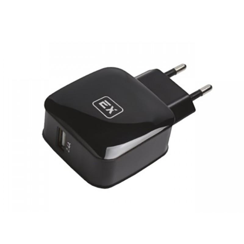 Зарядное устройство Exployd Sonder 1xUSB 2.4A QC3.0 Black EX-Z-432